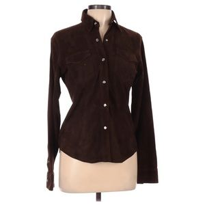 RALPH LAUREN Leather Over Shirt